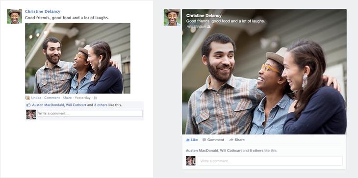 Facebook : avant et après