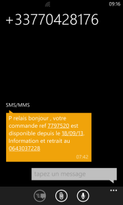 arnaque SMS