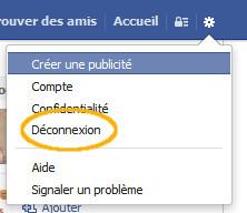deconnexion facebook