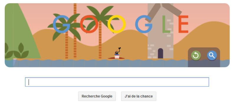 google doodle - parachustisme