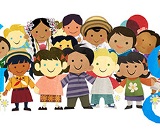 google doodle : journée internationale des droits de l'enfant