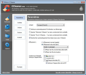 ccleaner - options