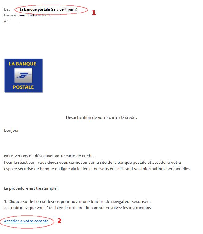 phishing banque postale
